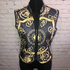 J. McLaughlin Quilted Chain Link Equestrian Vest